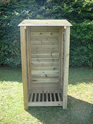 The Burley 6ft Hand Made Wooden Log Store
