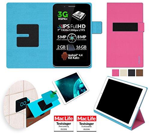 Allview Viva H7 Xtreme Hülle Cover Case in Pink - innovative 4 in 1 Tablethülle - Anti-Gravity Wandhalterung KFZ Halterung Tischaufsteller Schutzhülle - Tablet Halterung für Auto und Wand ohne Werkzeug oder Kleber - Der MacLife Testsieger - Tasche Etui Bumper für das Original Allview Viva H7 Xtreme von reboon (Xtreme Wand)