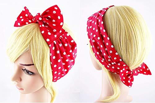 Haarband Polka Dots rot Haarschmuck Bow Retro