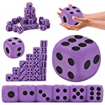 Purple & Black Foam Dice Soft Dot Cubes Giant Playing Dice Block Party Toy Game Prize for Children Kids Adults BaojunHT®(Purple)