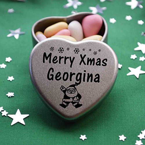 Great Christmas Present for Beatrice Makes the perfect Stocking Filler or Card alternative Three designs Available Tin Dimensions 45mmx45mmx20mm Merry Xmas Beatrice Mini Heart Gift Tin with Chocolates Fits Beautifully in the palm of your hand Father Ch