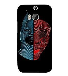 EPICCASE Two sides of Man Mobile Back Case Cover For HTC One M8 (Designer Case)