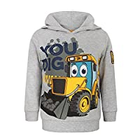 JCB Childrens/Boys Official You Dig Pullover Hoodie (Years (3-4)) (Light Grey)