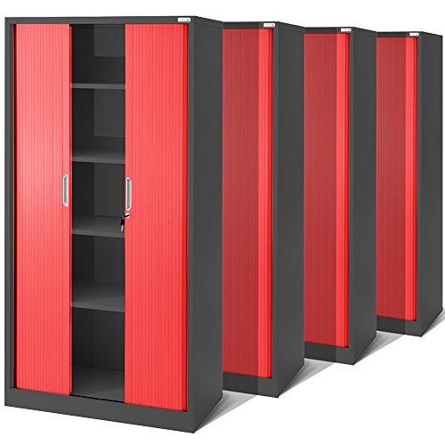 4er Set Rollladenschrank T001, Jalousieschrank, Aktenschrank, Büroschrank, Universalschrank,...
