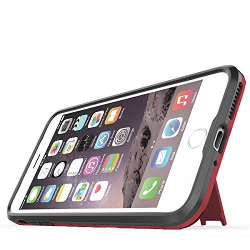 Coque iPhone 7 Plus, Pasonomi [Slim Hybrid] Double Couche Étui Rigide avec Fonction Stand pour iPhone 7 Plus, Noir Rouge