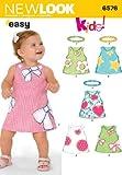 Simplicity New Look Schnittmuster 6576 GrößeA für Babykleider, mehrfarbig
