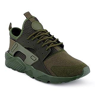 FiveSix Herren Sneaker Sportschuhe Laufschuhe Freizeitschuhe Textilschuhe Camouflage Schnürschuhe Low-Top Schuhe Grün EU 42