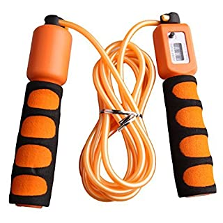 Anser Rope skipping 390 Adjustable Jump Rope with Counter and Comfortable Handles (Orange)