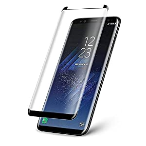 MARKET AFFAIRS Samsung Galaxy S8 5.8 Inch Black Premium Case Friendly 3D Tempered Glass Screen Protector