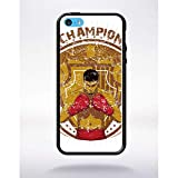 Générique Coque Champion Compatible Apple iphone 5c Bord Noir Silicone