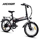 ANCHEER Elektrofahrrad, Faltbares E-Bike für Erwachsene, Faltrad, 20/26 Zoll Klapprad Pedelec mit Lithium-Akku (250W, 36V), Elektrofahrräder mit 7-Gang Shimano Nabenschaltung (20
