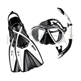 Mares X-One Marea - Set de buceo, color blanco, talla M-L