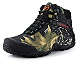 Showlovein Herren Wanderstiefel Outdoorstiefel All-Weather Wasserdicht Rutschfest Robust Camouflage Farbe (45 EU, Grau)