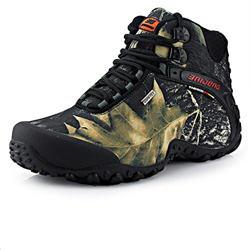 Showlovein Herren Wanderstiefel Outdoorstiefel all-weather Wasserdicht Rutschfest Robust Camouflage Farbe