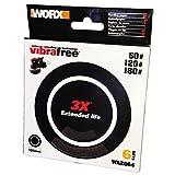 Worx Schleifblatt-Set für Exzenterschleifer, Vibrafree Durchmesser 125 mm, Korn 60, 120 und 180, 1 Stück, WA2064