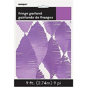 Unique Party Guirnalda de flecos de papel de seda Color morado 274 cm 63635