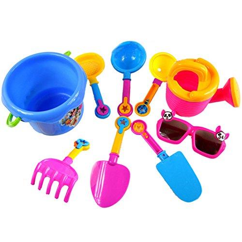 Hipsteen 9Pcs Strandspielzeug Beach Sand Toys Set for Kids - Color Random