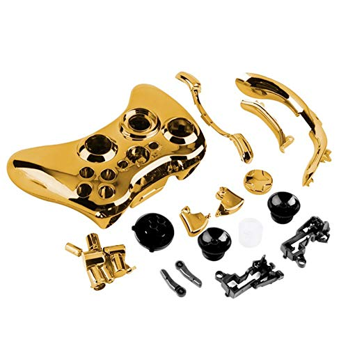Gamepad Wireless Controller Shell Kit Faceplate Cover Set Zubehör Teile für Xbox One Wireless Controller gold -
