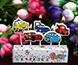 AMFIN® (Pack of 5) Car Party Candle/Birthday Car Candle/Car Theme Birthday Candle/Cake Car Candle
