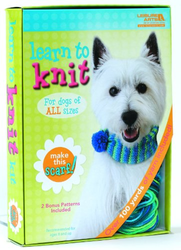 Learn Knit Dog Scarf Kit