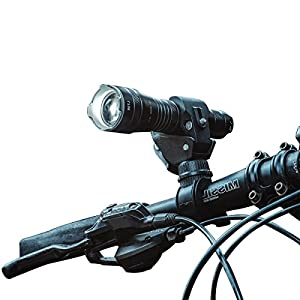 Torche lampe de poche Tactique LED, WUBEN Lampe Torche USB Rechargeable, piles incluses, 5 Modes de Luminosité, Étanche Antichoc Anti-dérapant, Phare Lampe Bicyclette 1200 Lumen pour VTT VTC Cycliste Camping Loisir [Classe énergétique A+]