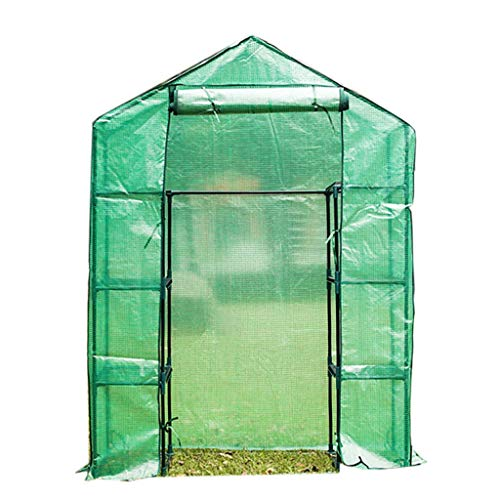 Miniserre serra da giardino balcone serra da balcone con mensola - walk in garden green house poly tunnel steeple casa verde grow house cover rimovibile, 140 × 70 × 194cm