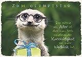 DeCoArt...... Geburtstagskarte Erdmännchen Brille Geschenk mit Umschlag 11,5 x 16,6 cm