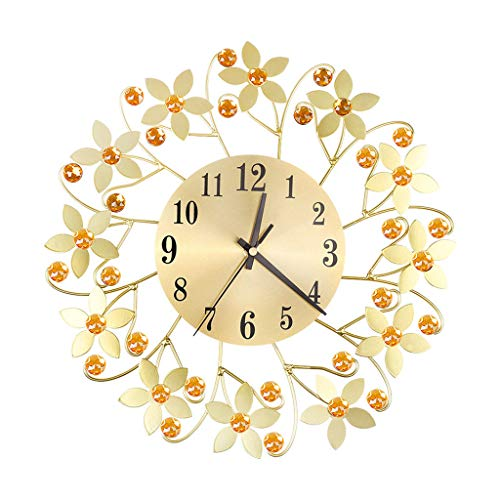DIY große Lautlos Wanduhr 3D Aufkleber Wandaufkleber Dekorative Digitale Uhr im Blume-Design ohne Tickgeräusche Wohnzimmer Wandtatoo Home Office Decor Geschenk ()