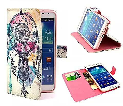 Etui Flip Cover Galaxy Note 3 - Semoss Retro Design Wind Chimes Coque Etui