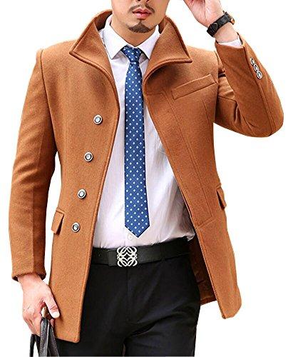Insun Herren Mantel Gr. 42, khaki (Classic Wool-blend Blazer)