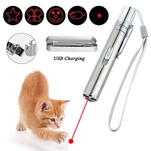 MARXIAO Puntatore LED per Gatti Ricaricabile Cat Chaser Toy 4 In1 Ricaricabile Cat Toy Cat Giocattolo Interattivo Animale Domestico Giocattolo Interattivo Ricarica USB