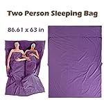 Azarxis Sleeping Bag Liner Travel Sheet Sleep Sack Blanket for Adult Cotton Lightweight Ultralight Envelope Compact - Double 2 King/Single 1 Queen 7