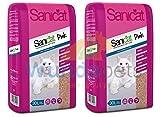 2 X SOPHISTICAT SANICAT 30L PINK NON CLUMPING CAT KITTEN LITTER LIGHTWEIGHT LOW DUST