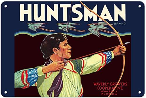 "Odeletqweenry Aluminum Sign, Metal Sign, 10"" x 14"" Vintage Tin Sign - Huntsman Brand Citrus - Waverly, Florida Growers Retro Sign"