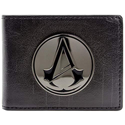 Assassin's Cosplay Kostüm Creed Unity - Ubisoft Assassins Creed Unity Symbol Badge Schwarz Portemonnaie Geldbörse