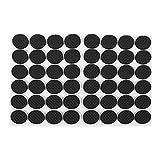 48 Stück Universal Schwarz Möbel selbstklebende rutschfeste Abdeckkappen Fußkappen Pfostenkappe Gummifüße Pads Kunststoff Bodenbeläge Schützende Gummiauflagen für Leiter Füße Schrittleitern Stuhlbein