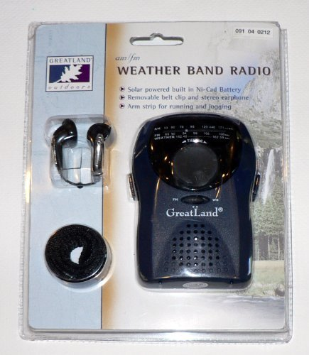 Generic Solar Powered Am/fm Weather Band Radio By Greatland Outdoors