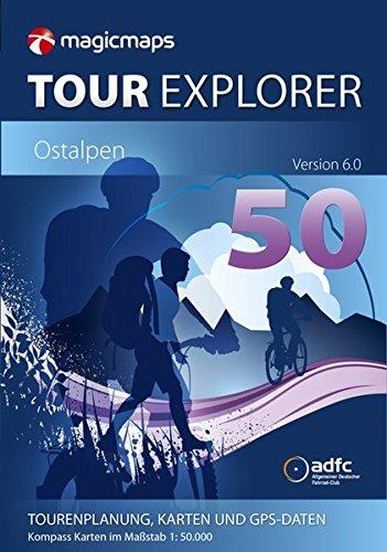 Preisvergleich Produktbild MagicMaps Routenplanungsoftware DVD Tour Explorer 50 Ostalpen V6.0 Alpenüberquerung, FA003560008