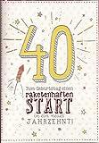 Geburtstagskarte zum 40. Geburtstag - Einen raketenhaften Start in ein neues Jahrzehnt - DEP003
