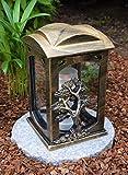 Garten Paradies Handmade Grablampe Grablicht Grablicht Grabdekoration Grabschmuck Kerze...