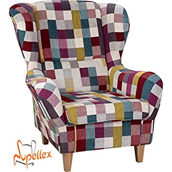 Atlantic home collection jeff ohrensessel inklusive hocker for Ohrensessel willy