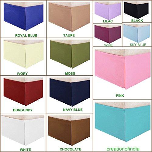 600-tc Bedskirt 53,3cm Länge von Tropfen King Size Pink warm Solide 100% ägyptischer Baumwolle (21-zoll-king Bedskirt)