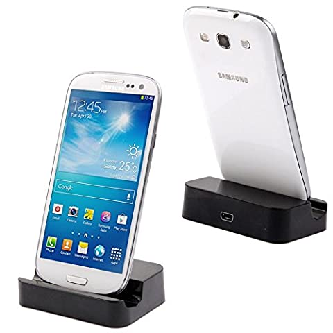 Fone-Stuff Universal Micro USB Dock Desktop Charging Charge and Sync Cradle Stand for Mobile Phones