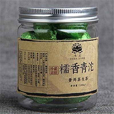 Yunnan Puerh thé 100g (0.22LB) Tuo vert en conserve JGlutinous Puer petit Tuocha Pu er thé cru thé chinois thé Pu'er thé vert thé Puer thé Pu sheng cha nourriture saine thé Pu-erh nourriture verte vieux arbres thé Pu erh