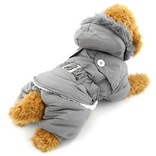 selmai Kleine Hunde Hoodies Winter Overall Coat Fleece gefüttert Pet Cat Apparel Solid