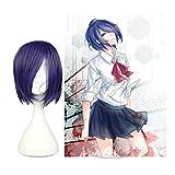 COSPLAZA Anime Cosplay Wigs Tokyo Ghoul Touka Kirishima, di capelli, colore: viola
