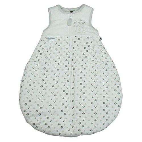 Jacky Mädchen und Jungen Baby Schlafsack Ärmellos, 100% Lyocell, Weiß/Teddy/Sterne, 350015 Preisvergleich
