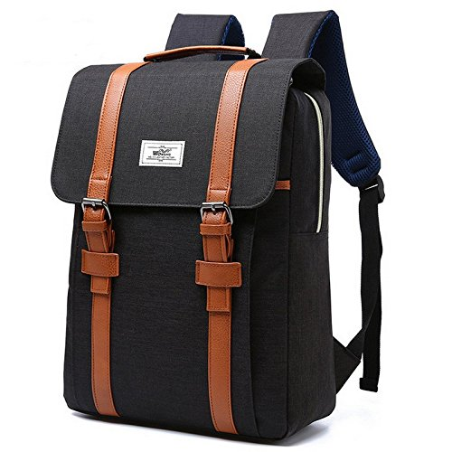 Zaino Pc Backpack 17 Pollici Per Computer Portatile Laptop 15 Pollici Anti-furto Zaino Impermeabile Nero Black