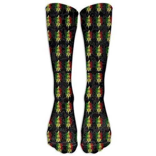 Gped Kniestrümpfe,Socken Rasta Cyclops Sticker Casual Unisex Sock Knee Long High Socks Sport Athletic Crew Socks One Size (Cyclops Kostüm Männer)