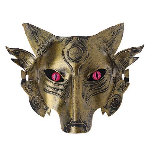 (Junlinto Werwolf Wolf Maske Masquerade Cosplay Requisiten Film Thema Halloween Party Supplies-3)